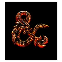 Medium Fire & On Black By Jason Garman   Drawstring Pouch (medium)   Lsl6jo4744px   Www Artscow Com Back
