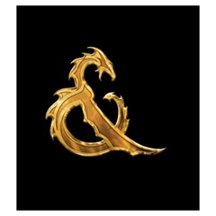 Medium Gold & On Black By Jason Garman   Drawstring Pouch (medium)   545ejo25gnz8   Www Artscow Com Front