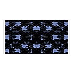 Geometric Futuristic Design Satin Shawl by dflcprintsclothing
