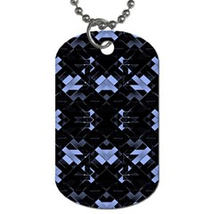 Futuristic Geometric Design Dog Tag (two Sided)  by dflcprints