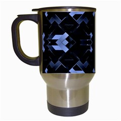 Futuristic Geometric Design Travel Mug (white) by dflcprints
