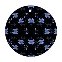 Futuristic Geometric Design Round Ornament (two Sides) by dflcprints