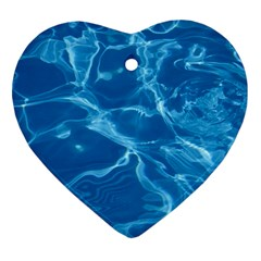 Water  Heart Ornament by vanessagf