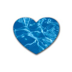 Water  Drink Coasters (heart) by vanessagf