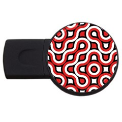 Waves And Circles Usb Flash Drive Round (2 Gb) by LalyLauraFLM