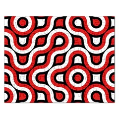 Waves And Circles Jigsaw Puzzle (rectangular) by LalyLauraFLM