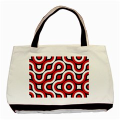 Waves And Circles Basic Tote Bag (two Sides) by LalyLauraFLM