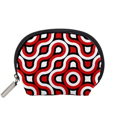 Waves And Circles Accessory Pouch (small) by LalyLauraFLM