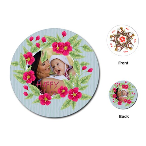 Flower Kids By X   Playing Cards (round)   Bhiq3yj2y24y   Www Artscow Com Front