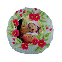 Flower Kids By X   Standard 15  Premium Round Cushion    Apebh3hqjfe6   Www Artscow Com Back