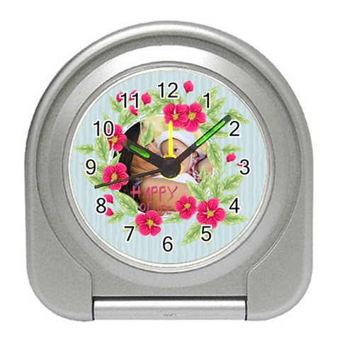 Flower Kids By X   Travel Alarm Clock   92okeebw0k1p   Www Artscow Com Front