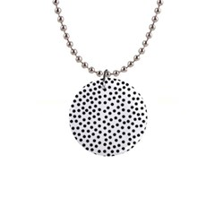 Black Polka Dots Button Necklace