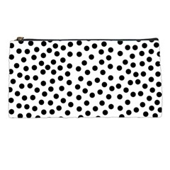 Black Polka Dots Pencil Case by Justbyjuliestore