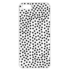 Black Polka Dots Apple Iphone 5 Seamless Case (white) by Justbyjuliestore