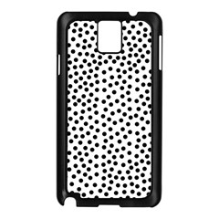 Black Polka Dots Samsung Galaxy Note 3 N9005 Case (black) by Justbyjuliestore