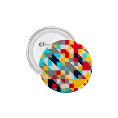 Colorful shapes 1.75  Button by LalyLauraFLM