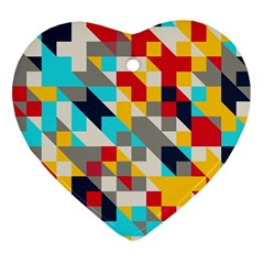 Colorful Shapes Ornament (heart) by LalyLauraFLM