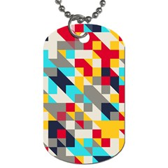 Colorful Shapes Dog Tag (one Side) by LalyLauraFLM