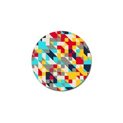 Colorful Shapes Golf Ball Marker (4 Pack) by LalyLauraFLM