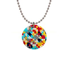Colorful Shapes 1  Button Necklace