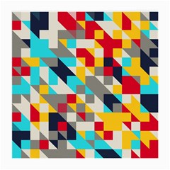 Colorful shapes Glasses Cloth (Medium, Two Sides) by LalyLauraFLM