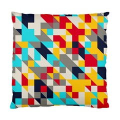 Colorful Shapes Standard Cushion Case (two Sides) by LalyLauraFLM