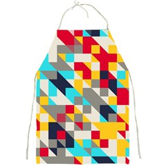 Colorful Shapes Full Print Apron by LalyLauraFLM
