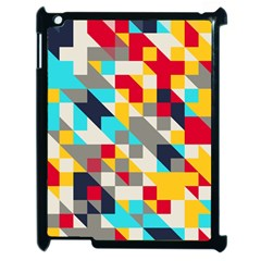 Colorful Shapes Apple Ipad 2 Case (black) by LalyLauraFLM