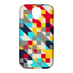 Colorful Shapes Samsung Galaxy S4 Classic Hardshell Case (pc+silicone) by LalyLauraFLM