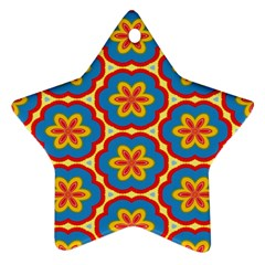 Floral Pattern Ornament (star) by LalyLauraFLM