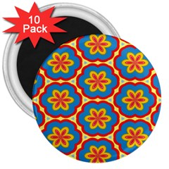 Floral Pattern 3  Magnet (10 Pack) by LalyLauraFLM