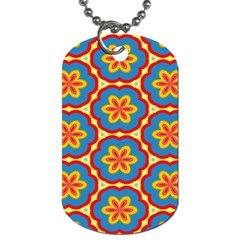 Floral Pattern Dog Tag (two Sides) by LalyLauraFLM
