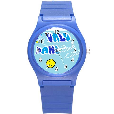 Roald Dahl Book Club Watch By Emma   Round Plastic Sport Watch (s)   Pvyknzmr9h7m   Www Artscow Com Front
