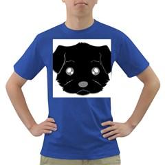 Affenpinscher Cartoon 2 Sided Head Men s T-shirt (Colored) by TailWags