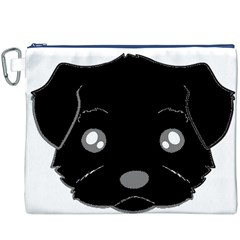 Affenpinscher Cartoon 2 Sided Head Canvas Cosmetic Bag (XXXL) by TailWags