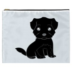 Affenpinscher Cartoon Cosmetic Bag (XXXL) by TailWags