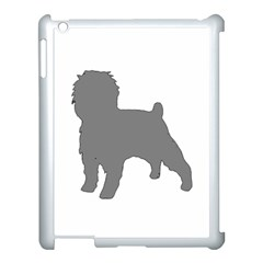 Affenpinscher Color Grey Silo Apple iPad 3/4 Case (White) by TailWags