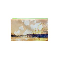 Bokeh Hearts Santa Monica Pier Cosmetic Bag (xs)