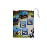 Village customer tiles  - Drawstring Pouch (Small)