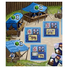 Village Customer Tiles  By Vendetta17   Drawstring Pouch (small)   Jni0nsn96o7r   Www Artscow Com Back