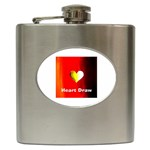 Heart Draw Poker - Hip Flask (6 oz)