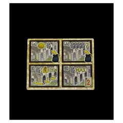 Village   Monks By Mike Partridge   Drawstring Pouch (medium)   Jeso8hn5hg8q   Www Artscow Com Front