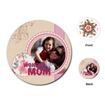 mothers day - Playing Cards (Round)