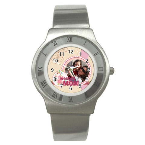 Mothers Day By Mom   Stainless Steel Watch   Zqt2wv6p1s8u   Www Artscow Com Front