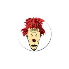 Evil Clown Hand Draw Illustration Golf Ball Marker by dflcprints