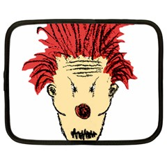 Evil Clown Hand Draw Illustration Netbook Sleeve (large) by dflcprints
