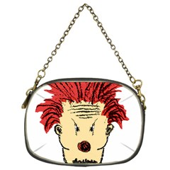 Evil Clown Hand Draw Illustration Chain Purse (one Side) by dflcprints