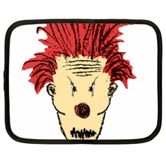 Evil Clown Hand Draw Illustration Netbook Sleeve (xl) by dflcprints