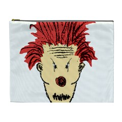 Evil Clown Hand Draw Illustration Cosmetic Bag (xl) by dflcprints