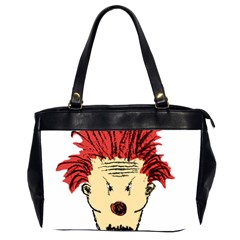 Evil Clown Hand Draw Illustration Oversize Office Handbag (two Sides) by dflcprints